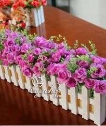 Hoa lụa, hoa giả Uyên shop, Hàng rào hoa tím