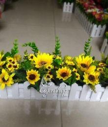 Hoa lụa, hoa giả Uyên shop, Hàng rào hoa hướng dương