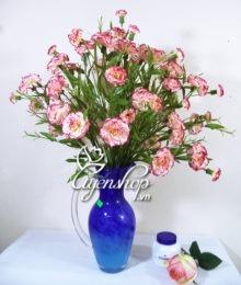 Hoa lụa, hoa giả Uyên shop, Bình hoa Cẩm Chướng