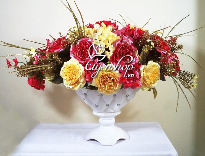 hoa hong chau au - hoa lua - uyenshop