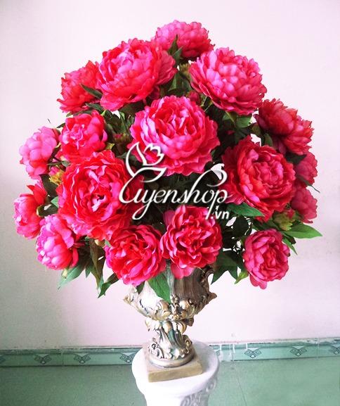 hoa phòng khách - hoa lụa - uyenshop