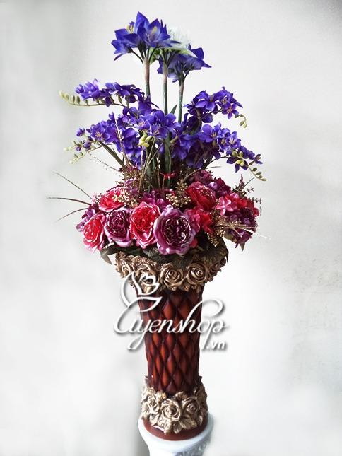 hoa phong khach - hoa lua - uyenshop