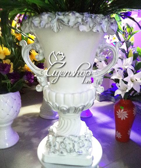 lo hoa chau au - hoa lua - uyenshop