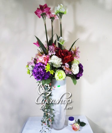 Hoa lụa, hoa giả Uyên shop, Bình hoa đẹp
