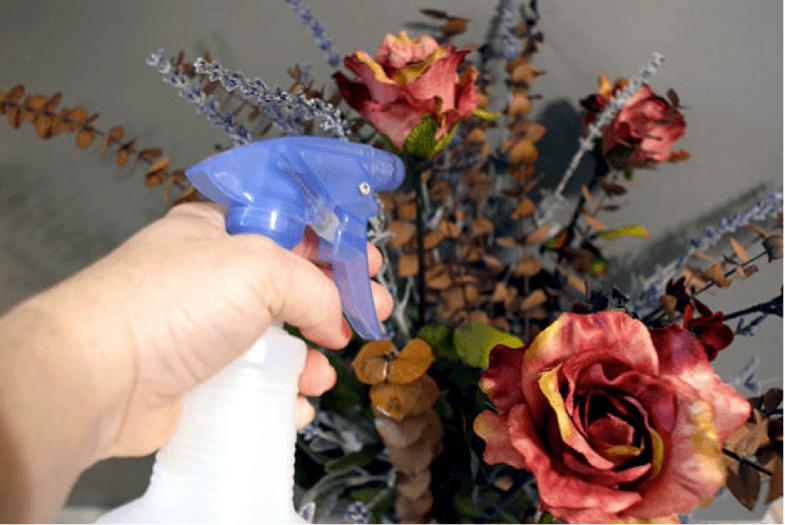 Hoa lụa, hoa giả Uyên shop, Cách làm sạch hoa lụa