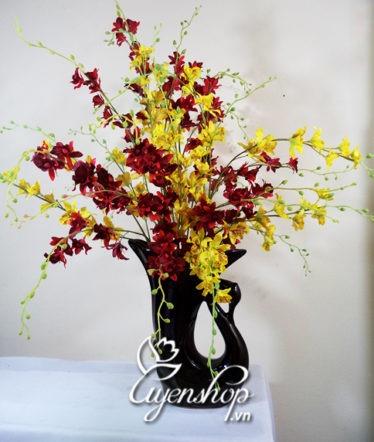 Hoa lụa, hoa giả Uyên shop, Thiên nga múa