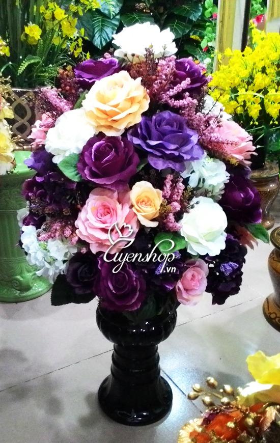 binh hoa hong - hoa lua - hoa gia uyenshop