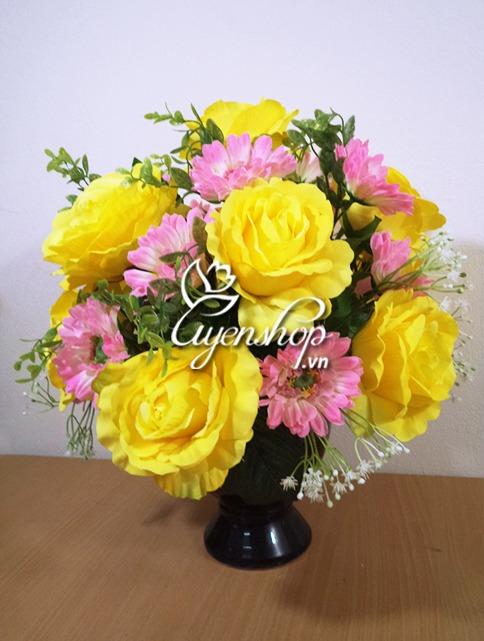 Hoa lụa, hoa giả Uyên shop, Cửa hàng hoa lụa Hà Nội
