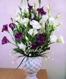 Hoa lụa, hoa giả Uyên shop, May mắn với hoa Lan Tường