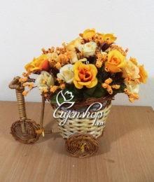 Hoa lụa, hoa giả Uyên shop, Xe đạp hoa