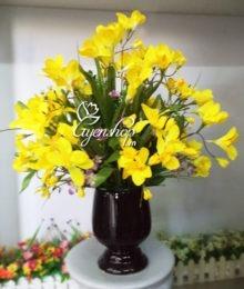 Hoa lụa, hoa giả Uyên shop, Hoa Đỗ Quyên vàng