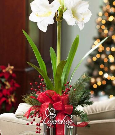Hoa lụa, hoa giả Uyên shop, Huệ Tây trắng