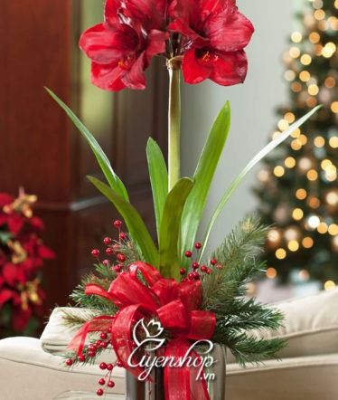 Hoa lụa, hoa giả Uyên shop, Huệ tây đỏ