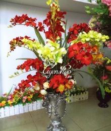 Hoa lụa, hoa giả Uyên shop, Bình hoa Đỗ Quyên