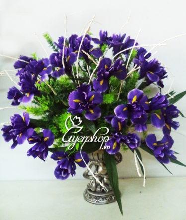 Hoa lụa, hoa giả Uyên shop, Hoa Diên Vĩ tím