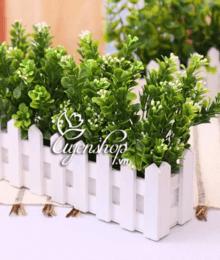 Hoa lụa, hoa giả Uyên shop, Hàng rào cây xanh