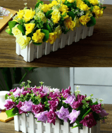 Hoa lụa, hoa giả Uyên shop, Hàng rào hoa hồng