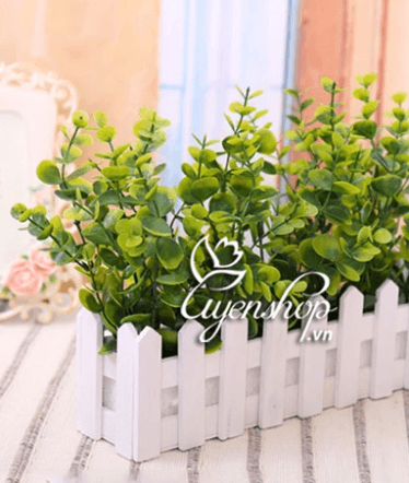 Hoa lụa, hoa giả Uyên shop, Hàng rào cây nhỏ
