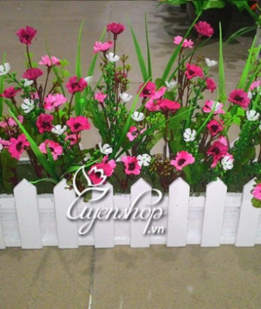Hoa lụa, hoa giả Uyên shop, Hàng rào hoa giả