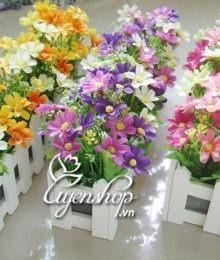 Hoa lụa, hoa giả Uyên shop, Hàng rào hoa cúc