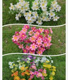 Hoa lụa, hoa giả Uyên shop, Hoa cúc thạch thảo