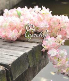 Hoa lụa, hoa giả Uyên shop, Cành Anh Đào đẹp