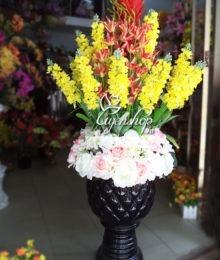 Hoa lụa, hoa giả Uyên shop, Bình hoa lớn