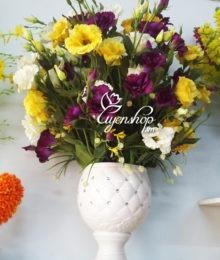 Hoa lụa, hoa giả Uyên shop, May mắn cùng Lan Tường