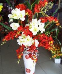 Hoa lụa, hoa giả Uyên shop, Lọ hoa Bình An