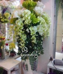 Hoa lụa, hoa giả Uyên shop, Bình hoa khách sạn lớn