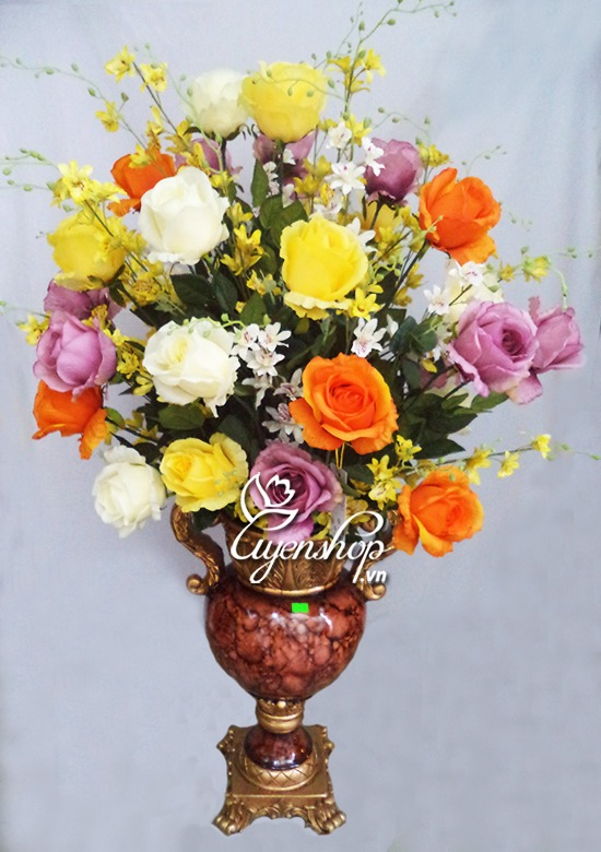 hoa lua - binh hoa phong khach