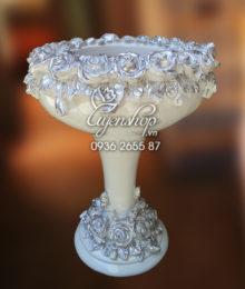 Hoa lụa, hoa giả Uyên shop, Lọ hoa đại Composite