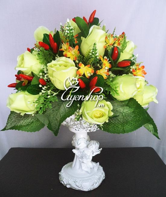 hoa hong xanh - hoa lua - hoa gia