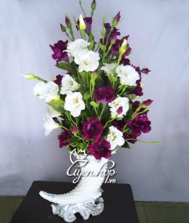 Hoa lụa, hoa giả Uyên shop, Bình hoa Cát Tường