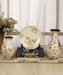 Hoa lụa, hoa giả Uyên shop, Bộ trang trí họa tiết chim