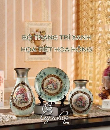 Hoa lụa, hoa giả Uyên shop, Bộ trang trí xanh