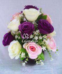 Hoa lụa, hoa giả Uyên shop, Hoa hồng sương
