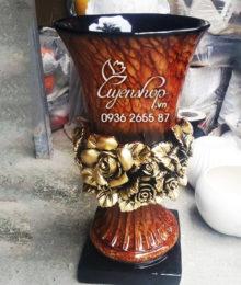 Hoa lụa, hoa giả Uyên shop, Lọ hoa composite