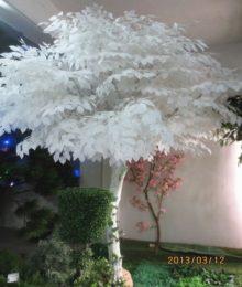 Hoa lụa, hoa giả Uyên shop, Lá si trắng