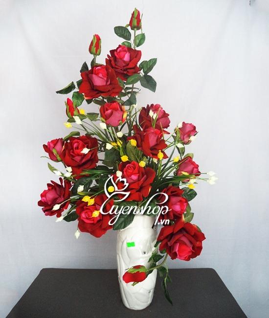hoa hong nhung - hoa gia