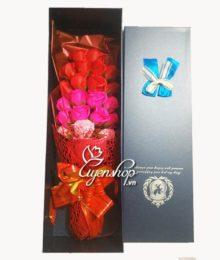 Hoa lụa, hoa giả Uyên shop, Hoa hồng sáp