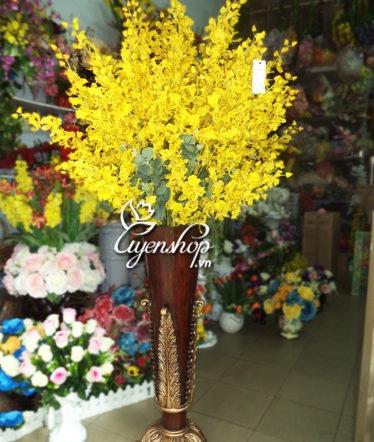 Hoa lụa, hoa giả Uyên shop, Bình hoa Thịnh Vượng
