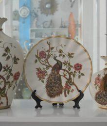 Hoa lụa, hoa giả Uyên shop, Bộ trưng bày chim Công
