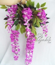 Hoa lụa, hoa giả Uyên shop, Giỏ hoa treo tường