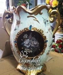 Hoa lụa, hoa giả Uyên shop, Bình hoa Composite