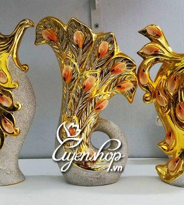 Hoa lụa, hoa giả Uyên shop, Bộ trang trí phong cách Châu Âu