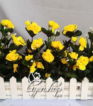 Hoa lụa, hoa giả Uyên shop, Hàng rào hoa mầu vàng