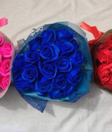 Hoa lụa, hoa giả Uyên shop, Hoa sáp bó