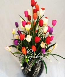 Hoa lụa, hoa giả Uyên shop, Hoa Tulip nhỏ
