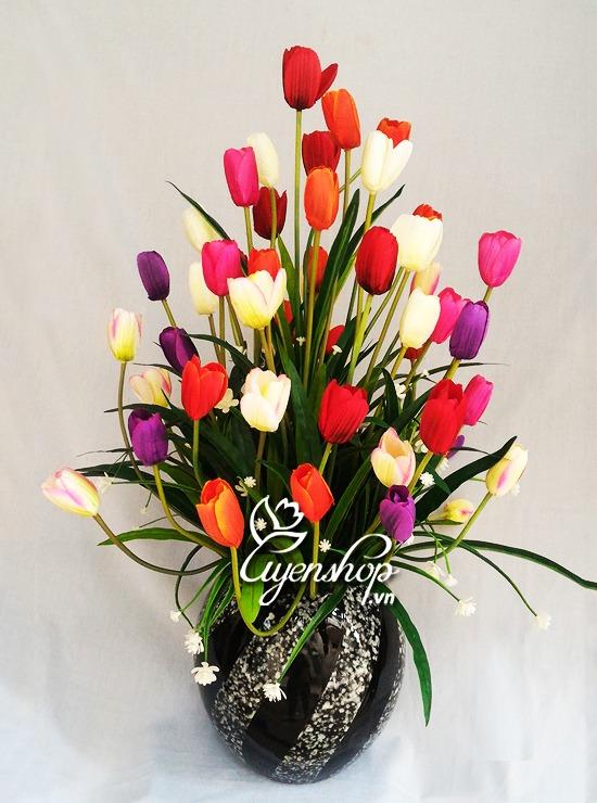 hoa tulip nho - hoa lua uyenshop